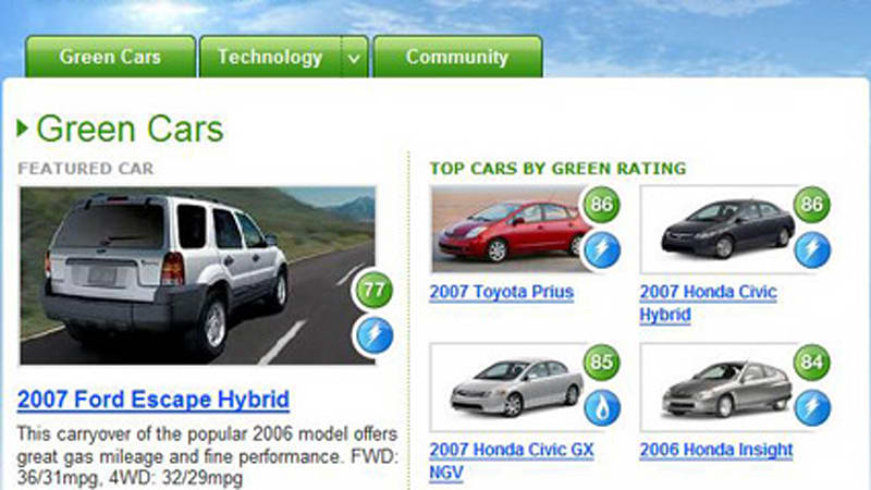 Yahoo And Environmental Defense Simplify The Green Car Ing Process With Ratings