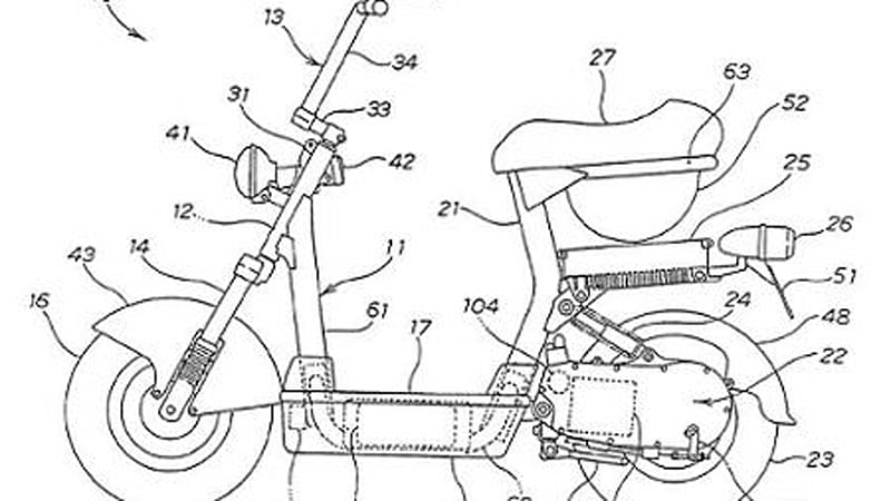 New Honda Patent Reveals That They Are Working On Electric Scooters