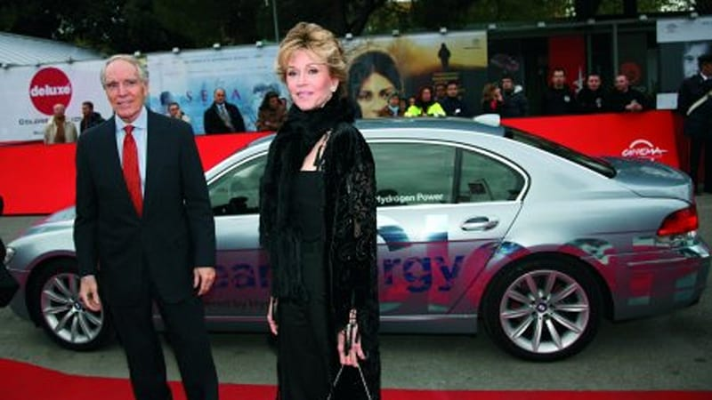 BMW Hydrogen 7 transporting celebrities during Rome Film Festival ...