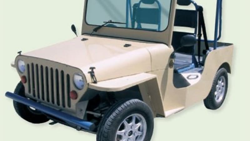 This 4wd That Looks Like An Old Jeep Is Really All Electric And Curly Available For In France We Ve Mentioned It Before