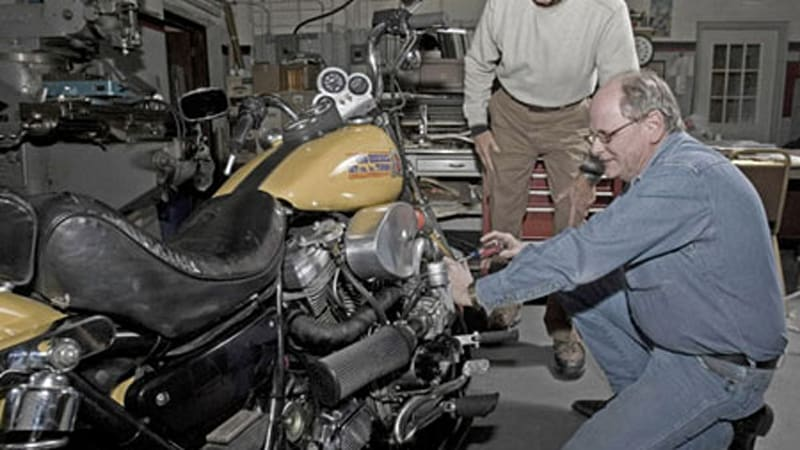 The Gray Eagles create a turbo diesel Harley V-Twin