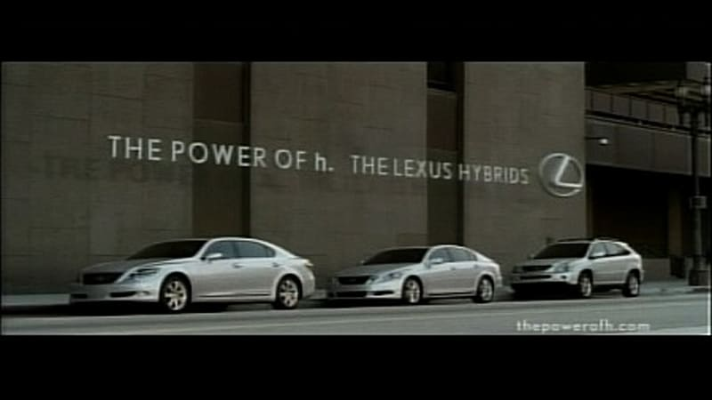 I Was Watching Lost On Abc Last Night And Caught A Tv Commercial For The Of H Lexus Hybrid S New Ad Campaign Spot Actually Had Nothing To Do