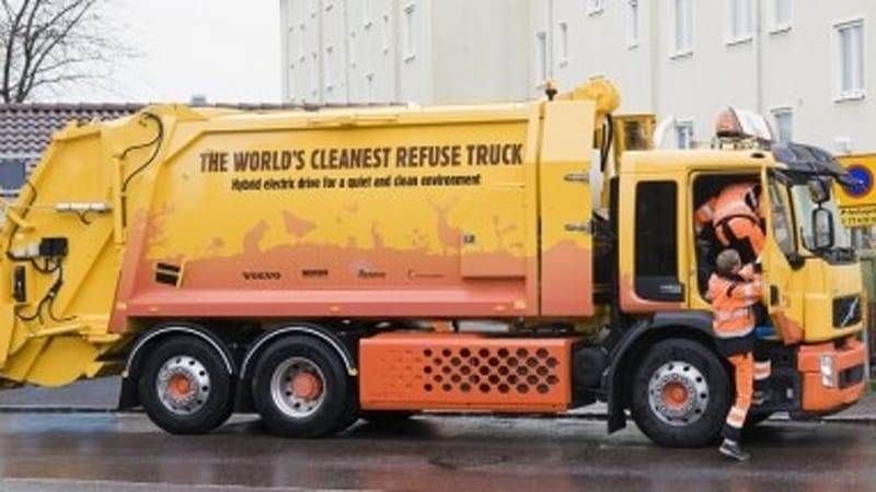 Volvo Introduces First Hybrid Garbage Truck Works On Dme Fuel