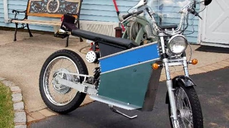 An Enterprising Man In New York Has Managed To Build Electric Motorcycle Which Hes Referring As The Battery Box This Term Comes From Design Of