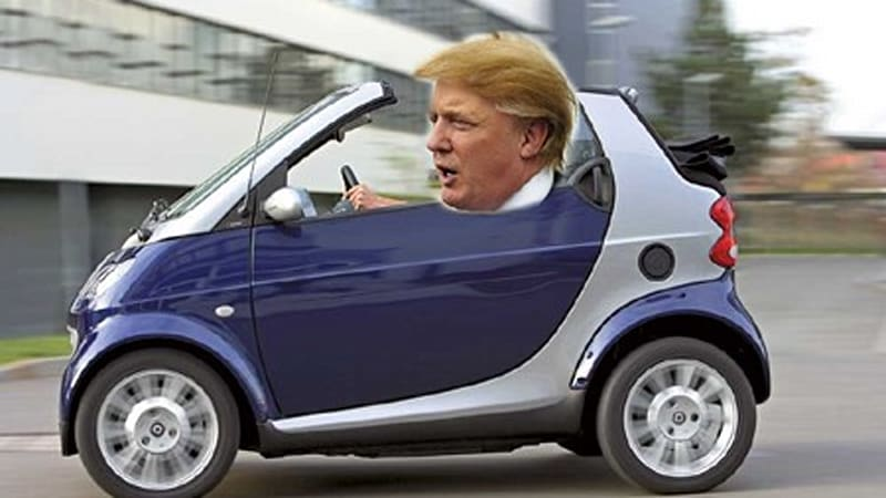 Car Repair Insurance >> Donald Trump to give away hundreds of electric Smart cars - Autoblog