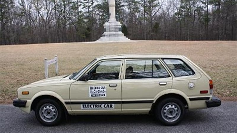 Click Above For A Gallery Of The Electric Honda Civic On EBay