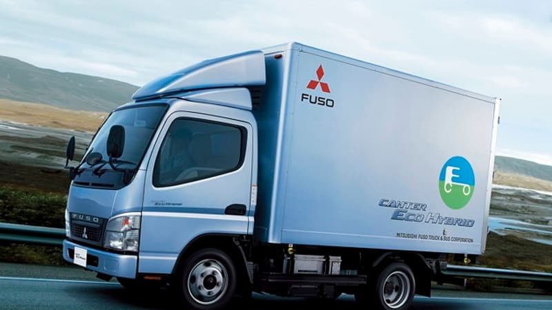 mitsubishi fuso delivers hybrid trucks in europe, getting lithium