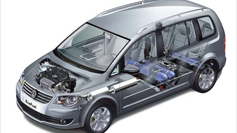 volkswagen installs larger cng tank in the touran tsi. Black Bedroom Furniture Sets. Home Design Ideas