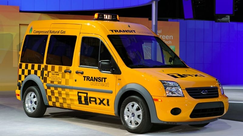 Chicago 2010: Ford Transit Connect Taxi burns CNG, LPG and