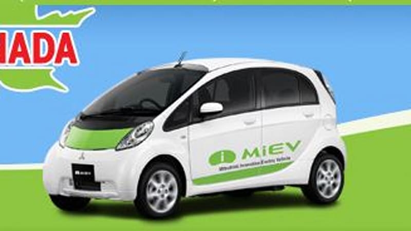 report epic fail mitsubishi i miev gets it charge from diesel rh autoblog com Nissan Leaf Ford Focus Electric