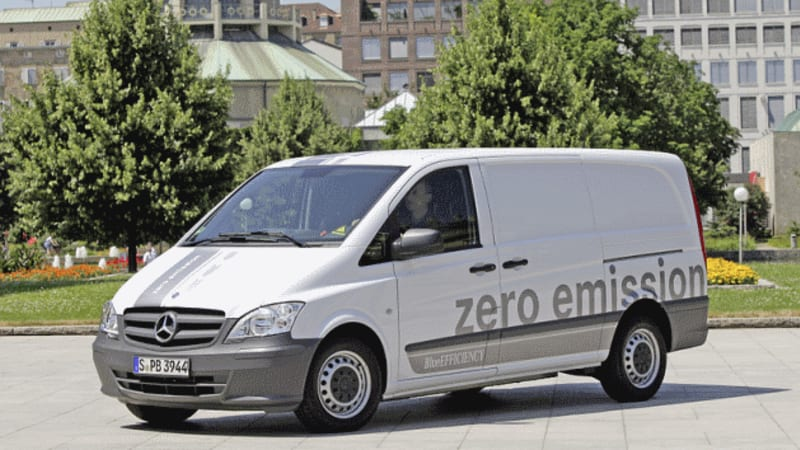 Europcar To Offer Mercedes Benz Vito E Cell Electric Van Rentals
