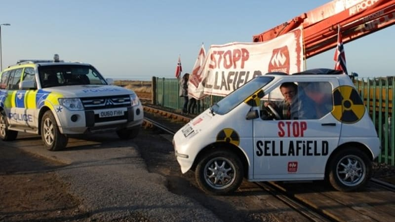Kewet Buddy Electric Car Used In Train Track Protest Again This Time Against Nuclear Energy