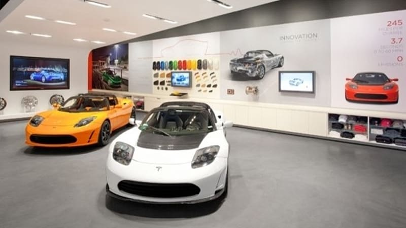Santana Row Stores >> Tesla Opens Showroom In San Jose S Santana Row Autoblog