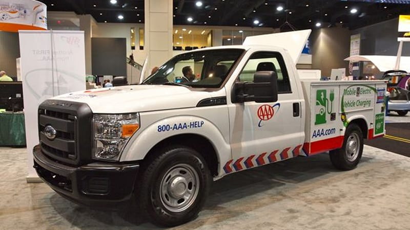 AAA's Electric Vehicle Roadside Assistance Truck – Click above for high-res image gallery