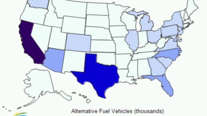 Number of alternative fuel vehicles in US fleets up 7 in 2009