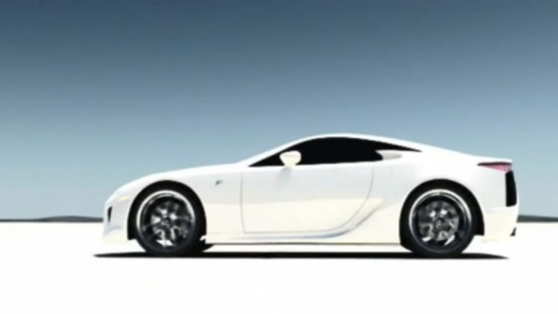 Lexus pitches hydrogenpowered LFA supercar in video  Autoblog
