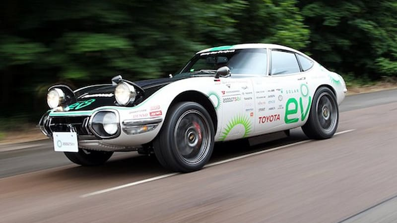 Does The Toyota 2000gt Sev Foretell An Electric Sports Car   W  Video