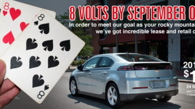 Chevy Volt Lease Deals >> How Low Can You Go Colorado Chevy Dealer Offering Volt Leases For