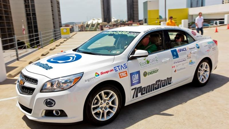 E85 Plug In Hybrid Chevy Malibu Powers Penn State To Second