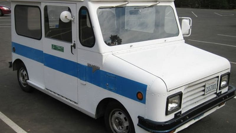 quirky kurbwatt electric postal van from 1980s surfaces on ebay autoblog. Black Bedroom Furniture Sets. Home Design Ideas