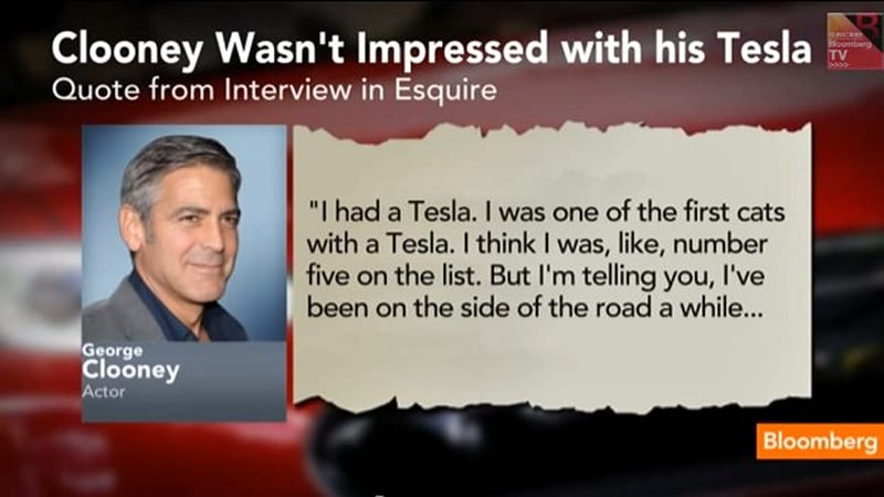 George Clooney fell out of love with his Tesla Roadster | Autoblog