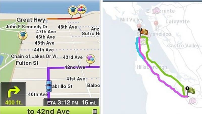 Waze for iPhone updated with voice alerts [video] | Autoblog