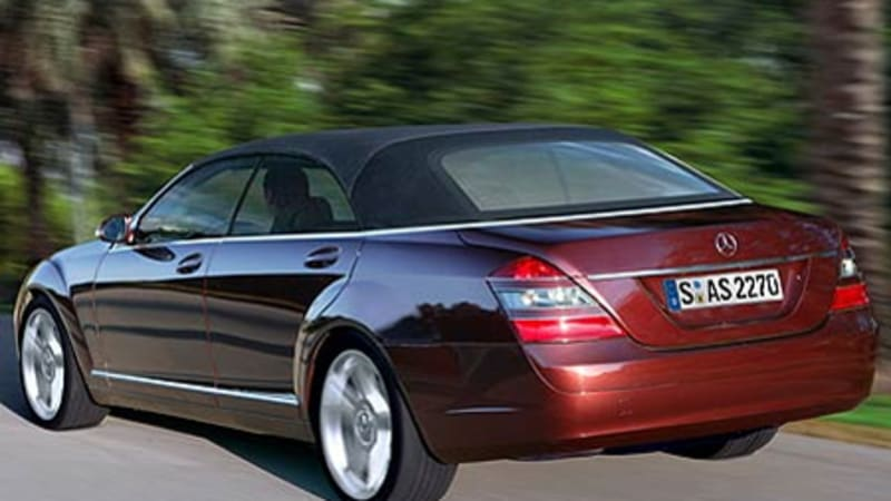 S-Class convertible being planned for '07 NAIAS | Autoblog