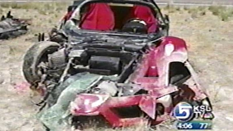 T,Top Enzo destroyed in high,speed crash