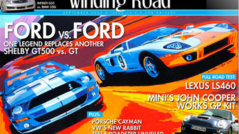 Credit Goes To The Folks At Winding Road For Really Stepping It Up A Notch Lately Their Latest Issue Features A Cover Designed By Ford Gt Designer