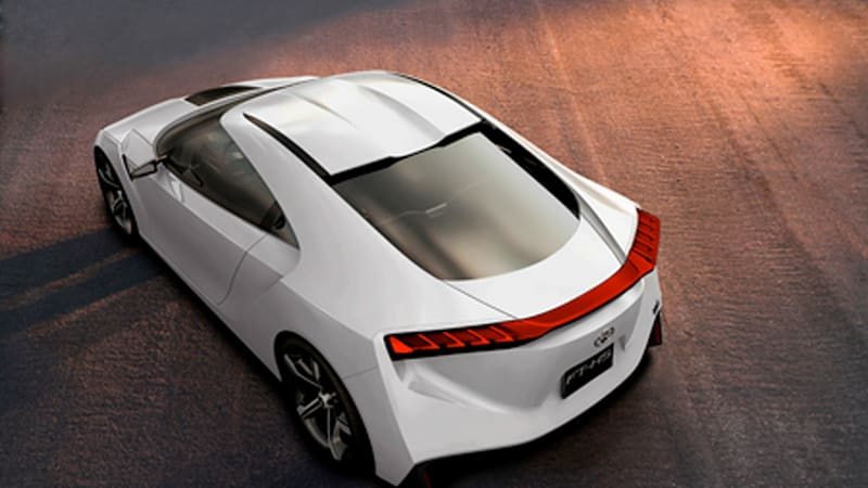 At Ten Past Noon On Sunday January 7th Toyota Will Take The Wraps Off Its Newest Design Study In Detroit Ft Hs Hybrid Sports Concept Supposedly