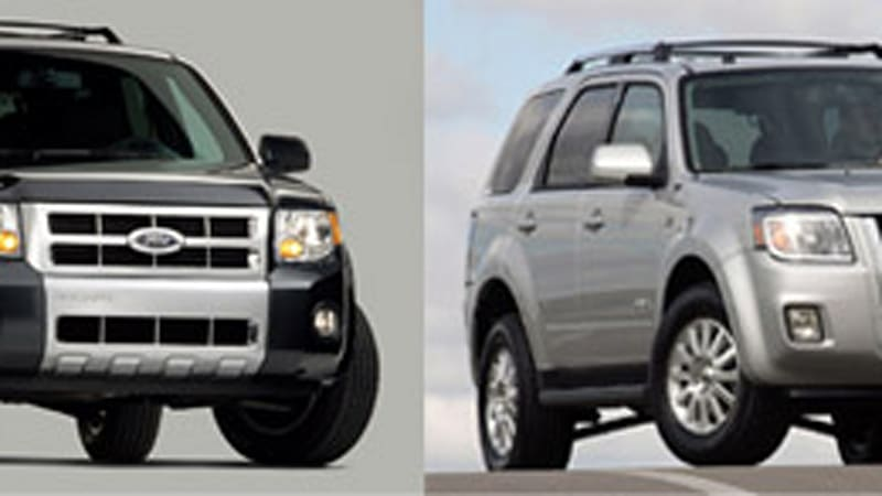 2008 Ford Escape And Mercury Mariner Priced Below Outgoing Models