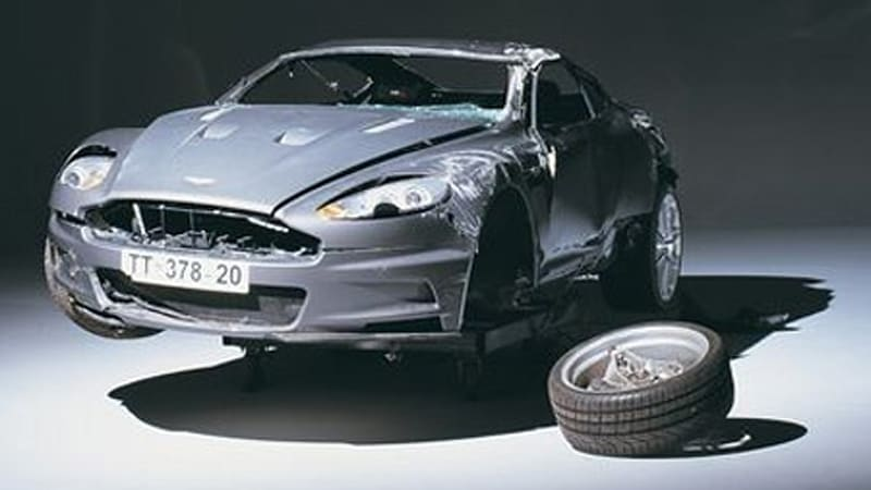 The Details And Pictures On Bond S Crashed Aston Autoblog