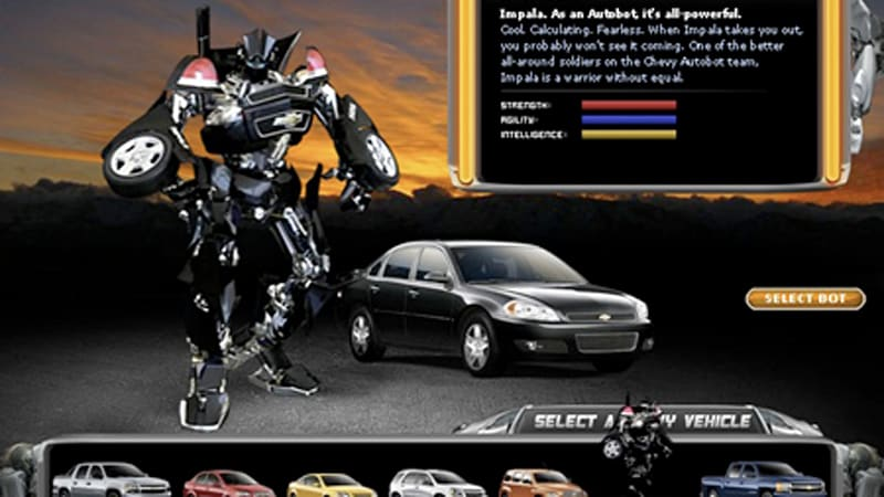 Design Your Own Car >> Chevy Wants You To Build Your Own Autobot Meet Autoblog