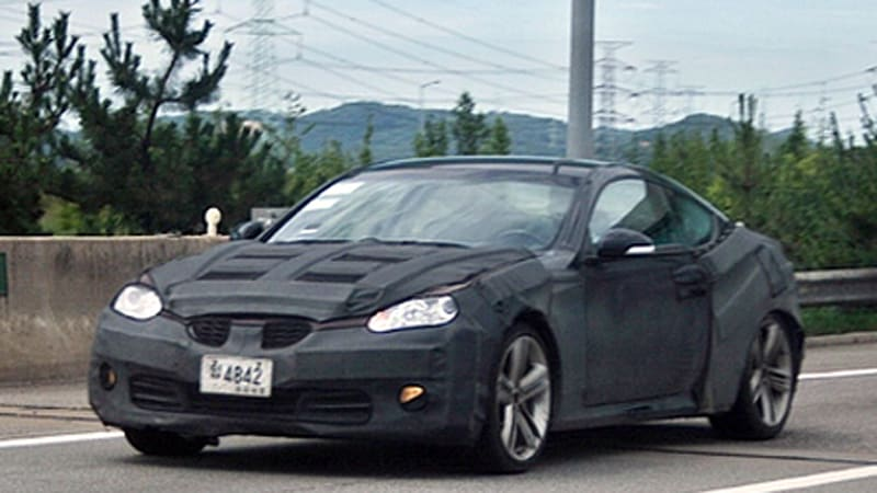 Spy Shots Hyundai S Rear Wheel Drive Coupe