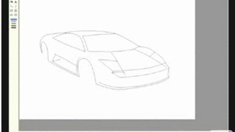 Time Rendered Useless: drawing a Lambo on MS Paint - Autoblog on white door drawing, jeep door drawing, scion door drawing,