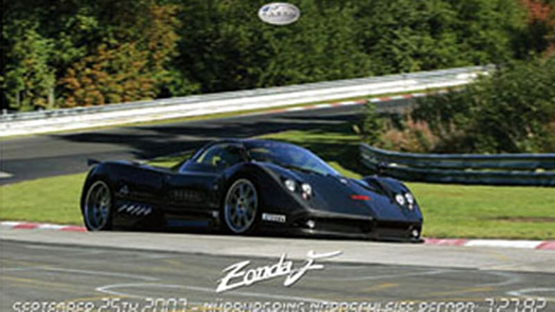 King of the 'Ring: Pagani Zonda F sets new Norschleife lap record ...