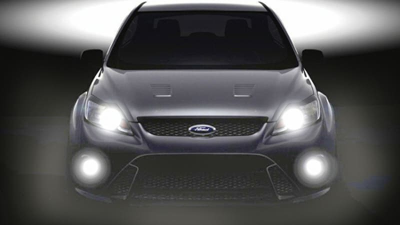 european ford focus rs teaser hits the 'net, sales begin in 2009