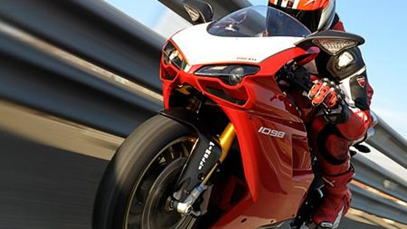 Ducati 1098 R: 180 horsepower, 364 pounds, traction control