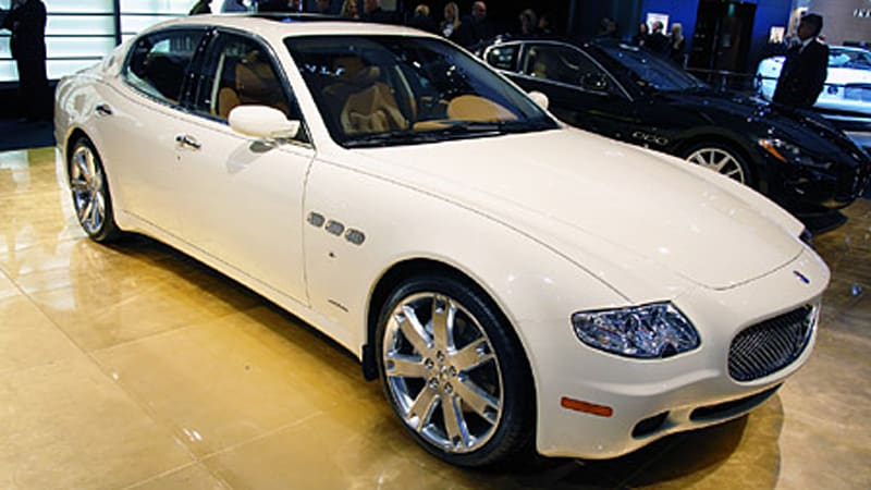 detroit 2008 maserati unveils special quattroporte collezione cento autoblog. Black Bedroom Furniture Sets. Home Design Ideas