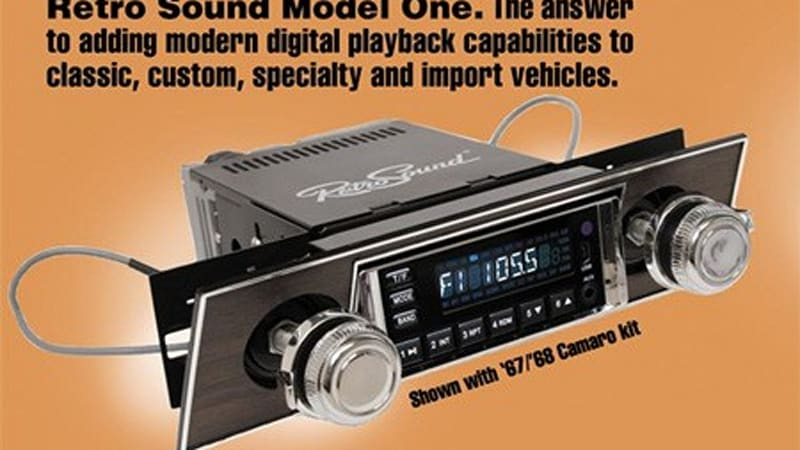 retro sound radio brings modern music to your classic car. Black Bedroom Furniture Sets. Home Design Ideas