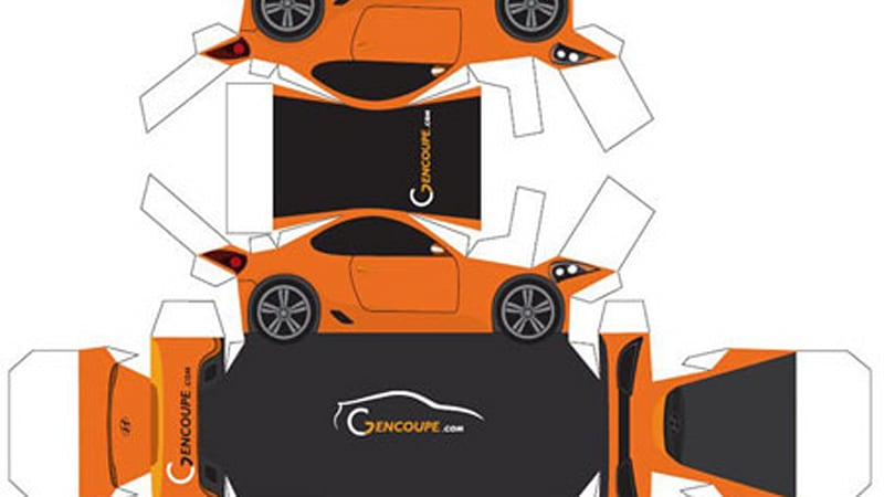 Hyundai Genesis Coupe paper cut-out for those who can't wait
