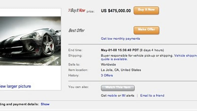 Race Driver Grid To Feature Ebay Motors Marketplace In Game Autoblog