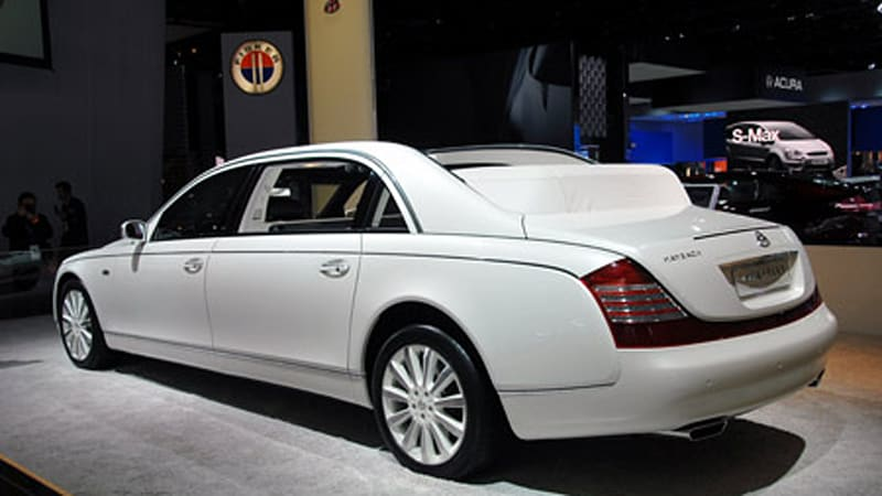 maybach prices 62 landaulet for america at $1.35 million - autoblog