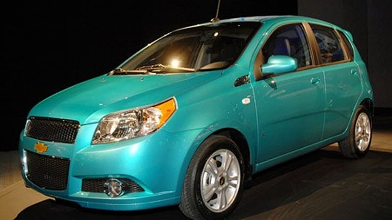 2009 chevy aveo5 and aveo sedan to start at 12 120 autoblog. Black Bedroom Furniture Sets. Home Design Ideas