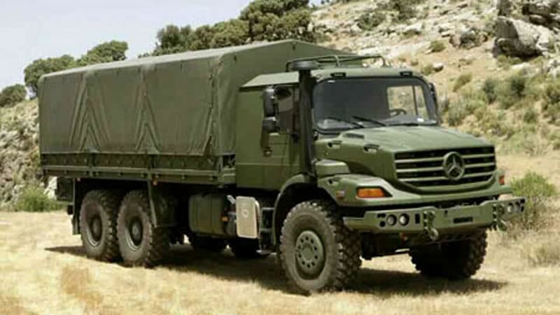 Mercedes Introduces New Zetros Military Truck Autoblog - Mercedes benz military sales