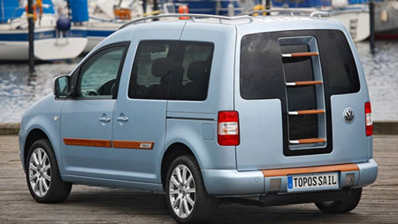 Lounge On Deck Of Vw Caddy Topos Sail Concept Autoblog