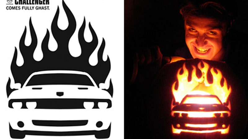 car themed stencils to get your pumpkin carving on autoblog rh autoblog com