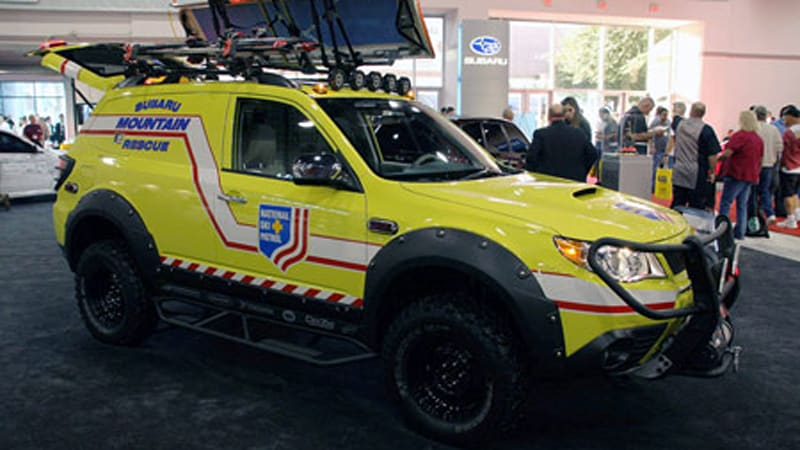 sema save us subaru mountain rescue vehicle autoblog