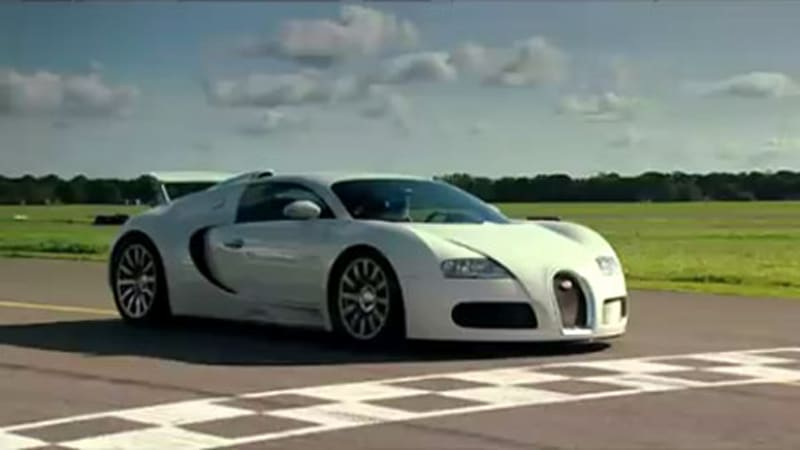 video bugatti veyron finally does power lap on top gear is it the fastest autoblog. Black Bedroom Furniture Sets. Home Design Ideas