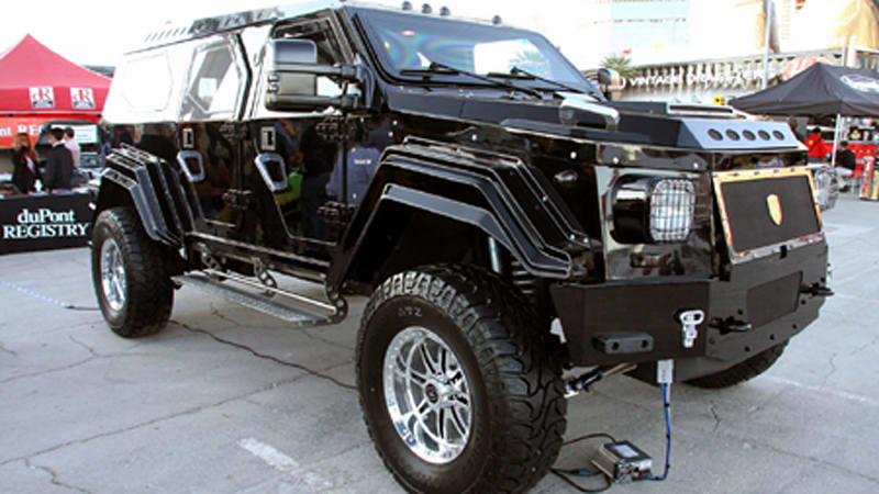 Sema Knight Xv Armored Suv Lets You Take Your Undergound